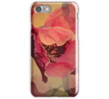 Summer Poppy, Mixed media design iPhone Case/Skin