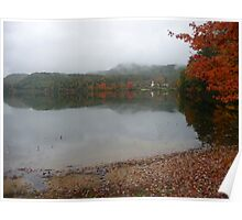 New England scene in clouds and rain Poster