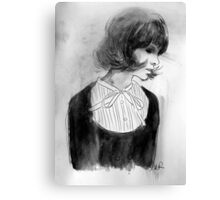 the white bow Canvas Print