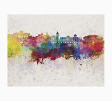 Nice skyline in watercolor background Kids Tee
