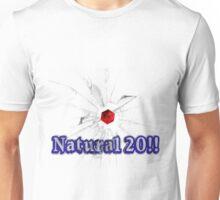 Natural 20 smashed Unisex T-Shirt