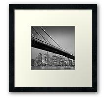 Brooklyn Bridge, Study 6 Framed Print