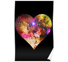 Galaxy Heart Tee One Poster