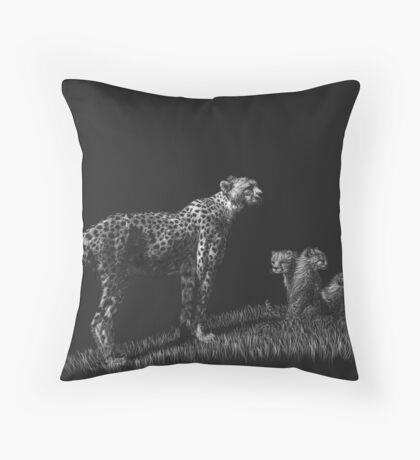 Guarding the Future - cheetahs Throw Pillow