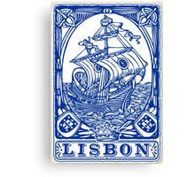 Lisbon Traditional Tiles Azulejos Canvas Print