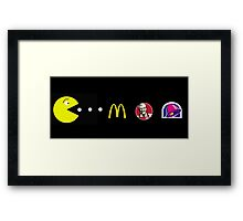 Pac-Man 2012 U.S. Edition Framed Print