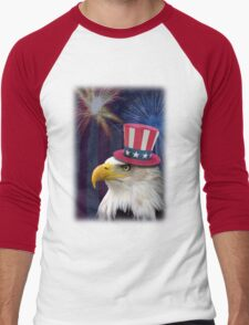Patriotic Eagle Men's Baseball ¾ T-Shirt