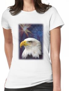 Patriotic Eagle Womens Fitted T-Shirt