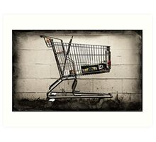 Abandoned Shopping Cart #1 Art Print