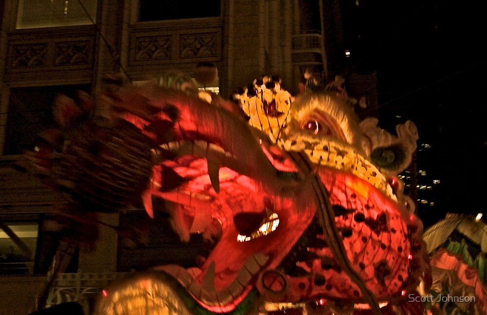 Father Dragon ... Chinese New Year Parade, San Franciaco, California by Scott Johnson