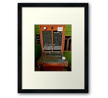 The telephone switchboard Framed Print