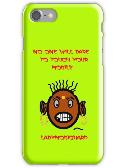 Angry Lady will Guard your iphone and ipad by NikunjVasoya