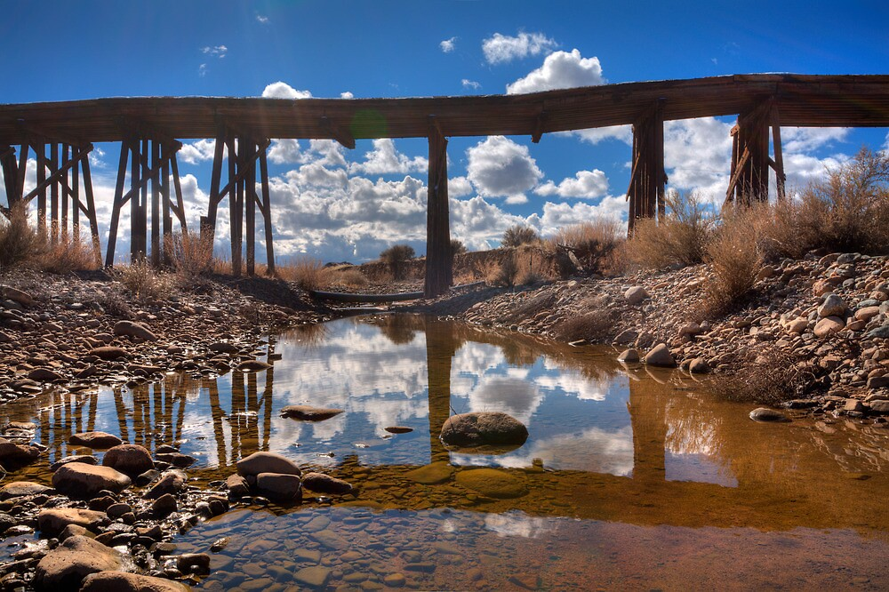 Bridge Over Not Really Very Troubled Waters by Bob Larson