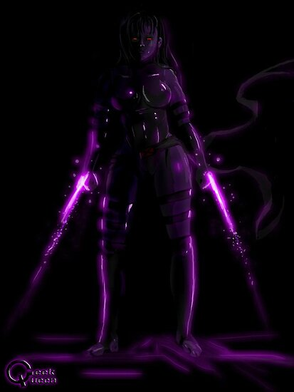 Psylocke Print by Queen Geek