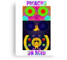 Pikachu On Acid Canvas Print