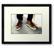 Street Sneakers Framed Print