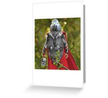 Grey parrot Thor Greeting Card