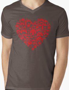 Gaming Love Mens V-Neck T-Shirt