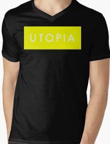 Utopia - Yellow Mens V-Neck T-Shirt