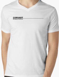Corvadt Biological Sciences - Utopia (black) Mens V-Neck T-Shirt
