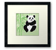 Green panda Framed Print