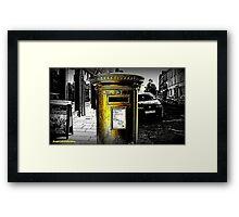 Gold Post Box Framed Print