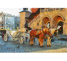 golden horses Photographic Print