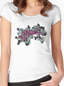 MIDNIGHT F7 Women's Fitted Scoop T-Shirt