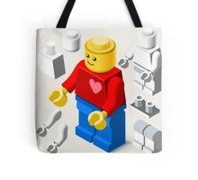 Toy Block Man Games Isometric Tote Bag
