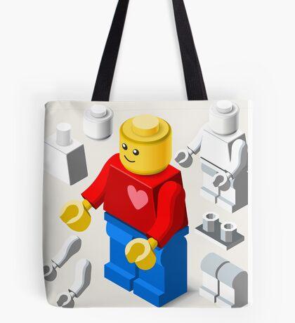 Toy Block Man Games Isometric Tote Bag