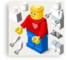 Toy Block Man Games Isometric Canvas Print