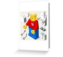 Toy Block Man Games Isometric Greeting Card