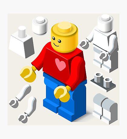 Toy Block Man Games Isometric Photographic Print