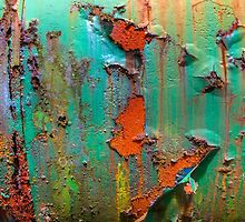 Flaking Paint on Rust by Dave Hare