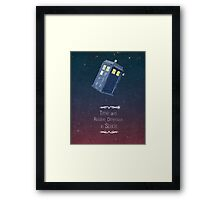 Time and Relative Dimension in Space Framed Print