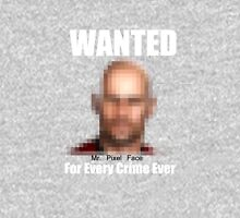 WANTED ....Mr Pixel Face Unisex T-Shirt