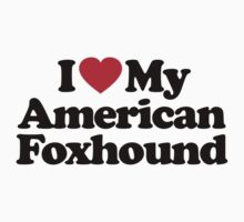 I Love My American Foxhound by iheart