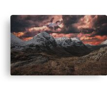 Distorted Mountains Canvas Print