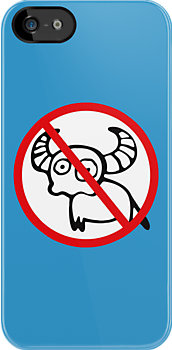 NO Water Buffalo Sign by iloveisaan