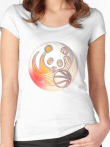 Panda Basketball Women's Fitted Scoop T-Shirt