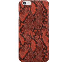 Red and Black Snake Skin iPhone Case/Skin