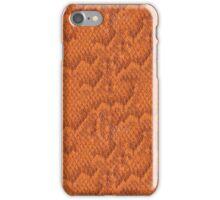 Orange Snake Skin iPhone Case/Skin