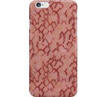 Maroon Snake Skin iPhone Case/Skin