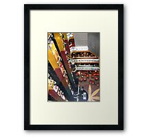 Going Down Framed Print