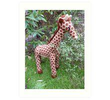 Hand Knitted toy Giraffe Art Print