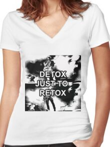 Fall Out Boy - Detox Just to Retox Women's Fitted V-Neck T-Shirt
