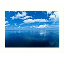 Over a Blue Horizon Art Print