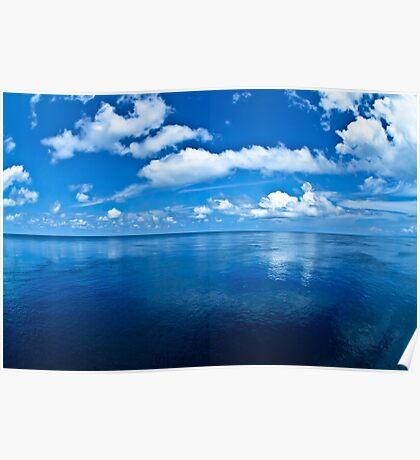 Over a Blue Horizon Poster