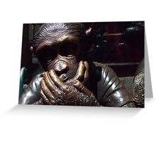 Speak no Evil Greeting Card