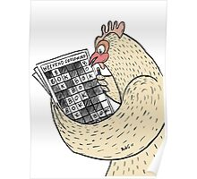 Chicken Crosswords Are Tricky Poster